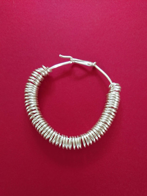 Hand crafted silver plated copper wire bracelet