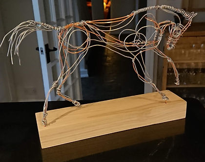 Wire sculpture of a horse