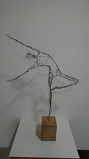 Wire sculpture of a dancer