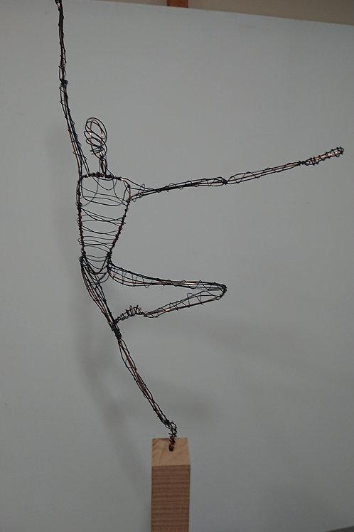 Extreme balance wire sculpture