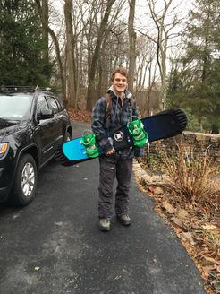 Rainier Guyer showing off his Board Bootie