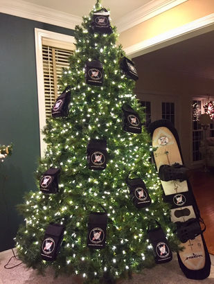 Board Bootie Christmas