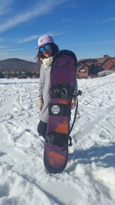 Ella Abdo fashioning a BOARD BOOTIE in Park City - March '17