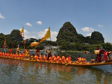 Tomorrow is the Dragon Boat Festival ! Here in Guilin is going to have a big competition of the drag