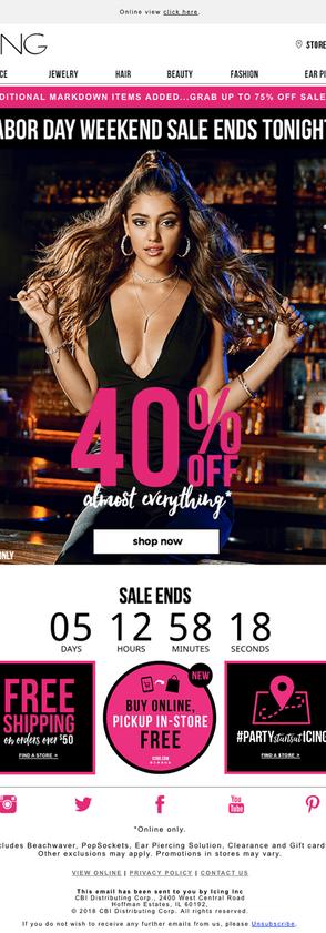 ICING sale