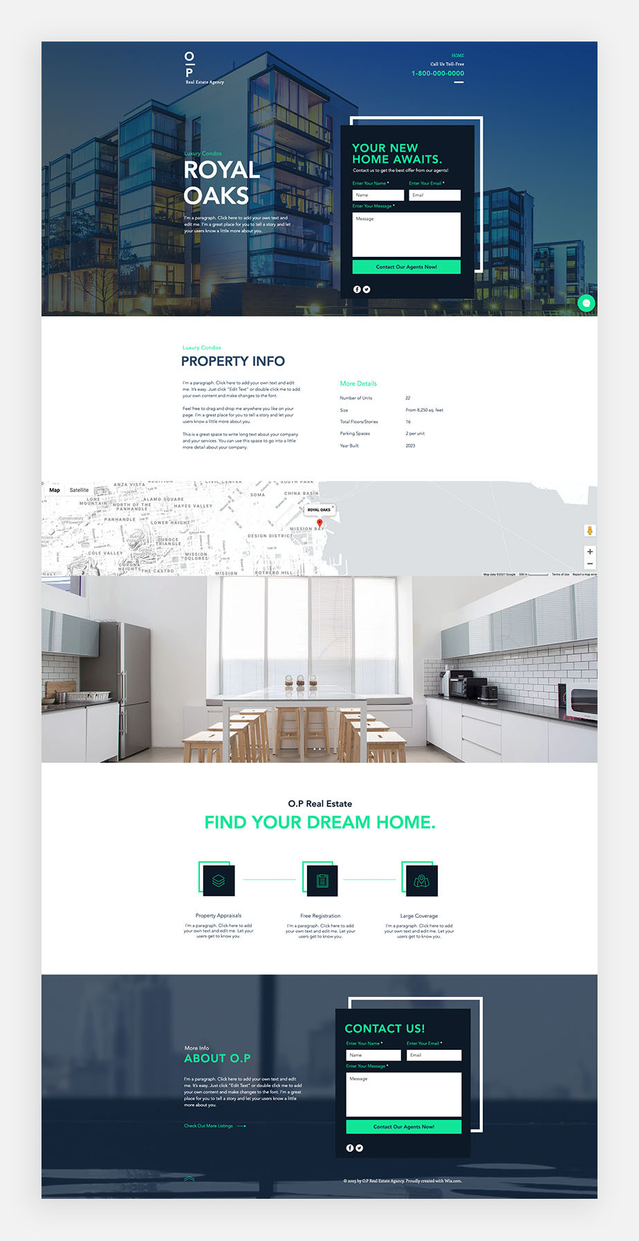 Wix real estate website template