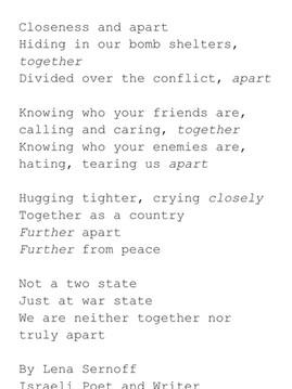 Israel Palestine Conflict Poem