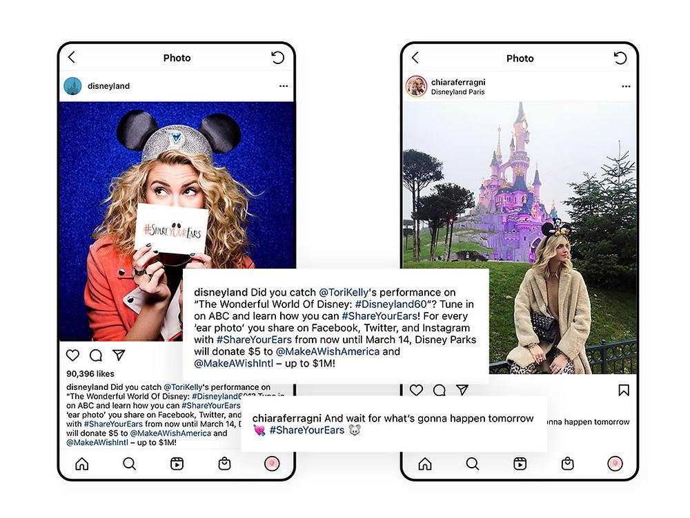 Disneyland's branded hashtag #shareyourears example
