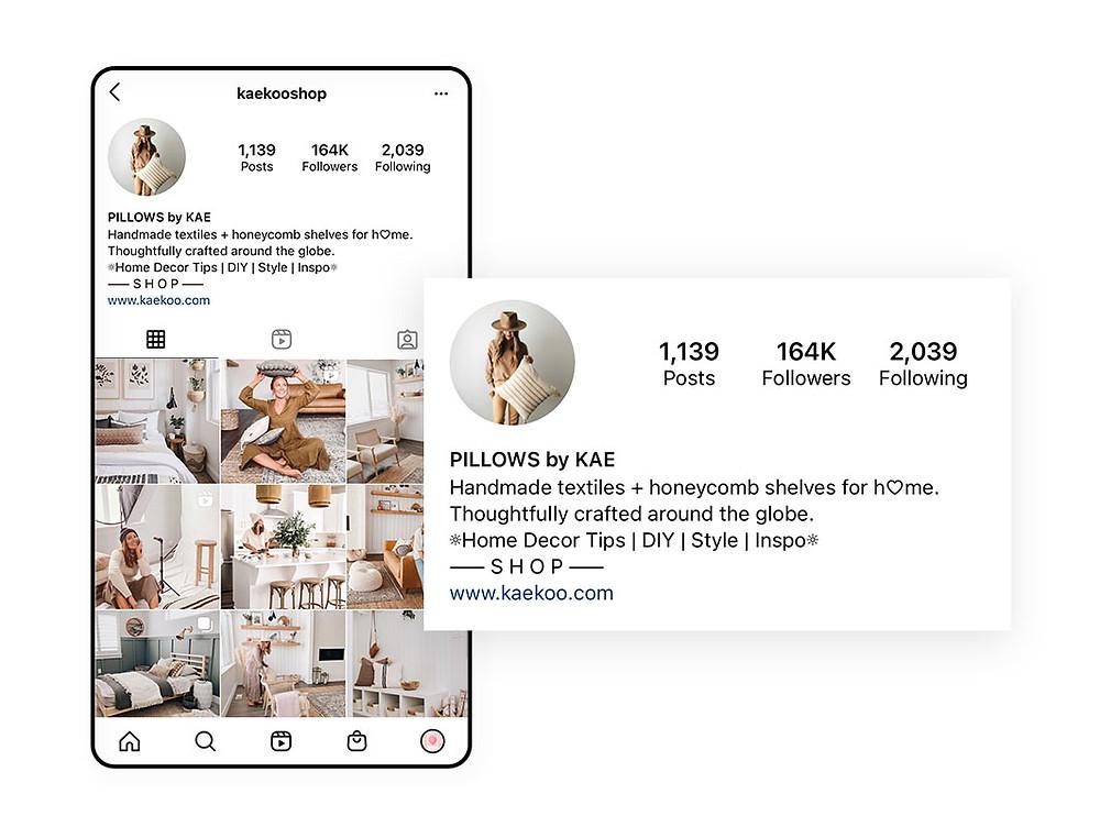 Instagram bio example by Kaekoo