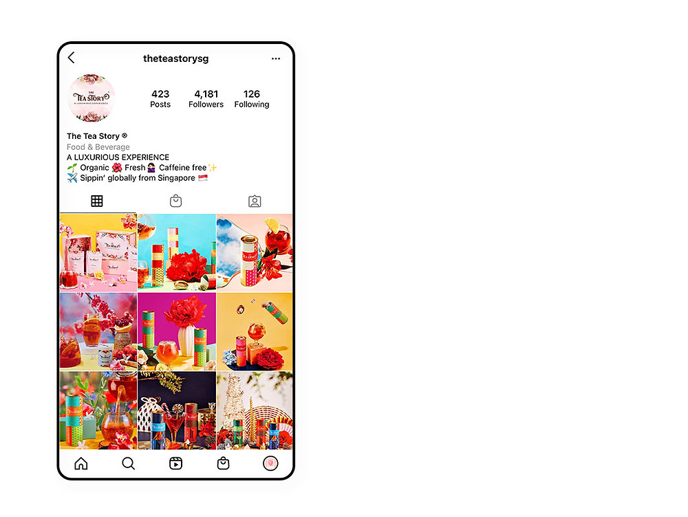 The Tea Story Instagram marketing example