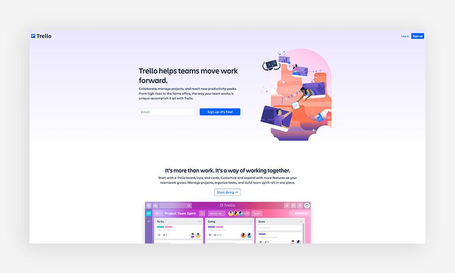 Trello productivity software