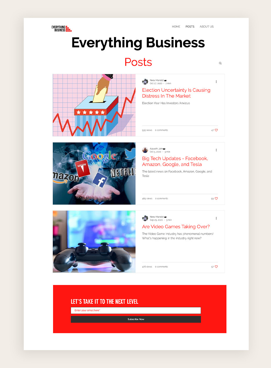 business blog example of Everything Business