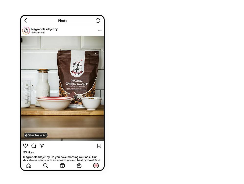 Les Granolas de Jenny Instagram Shopping post