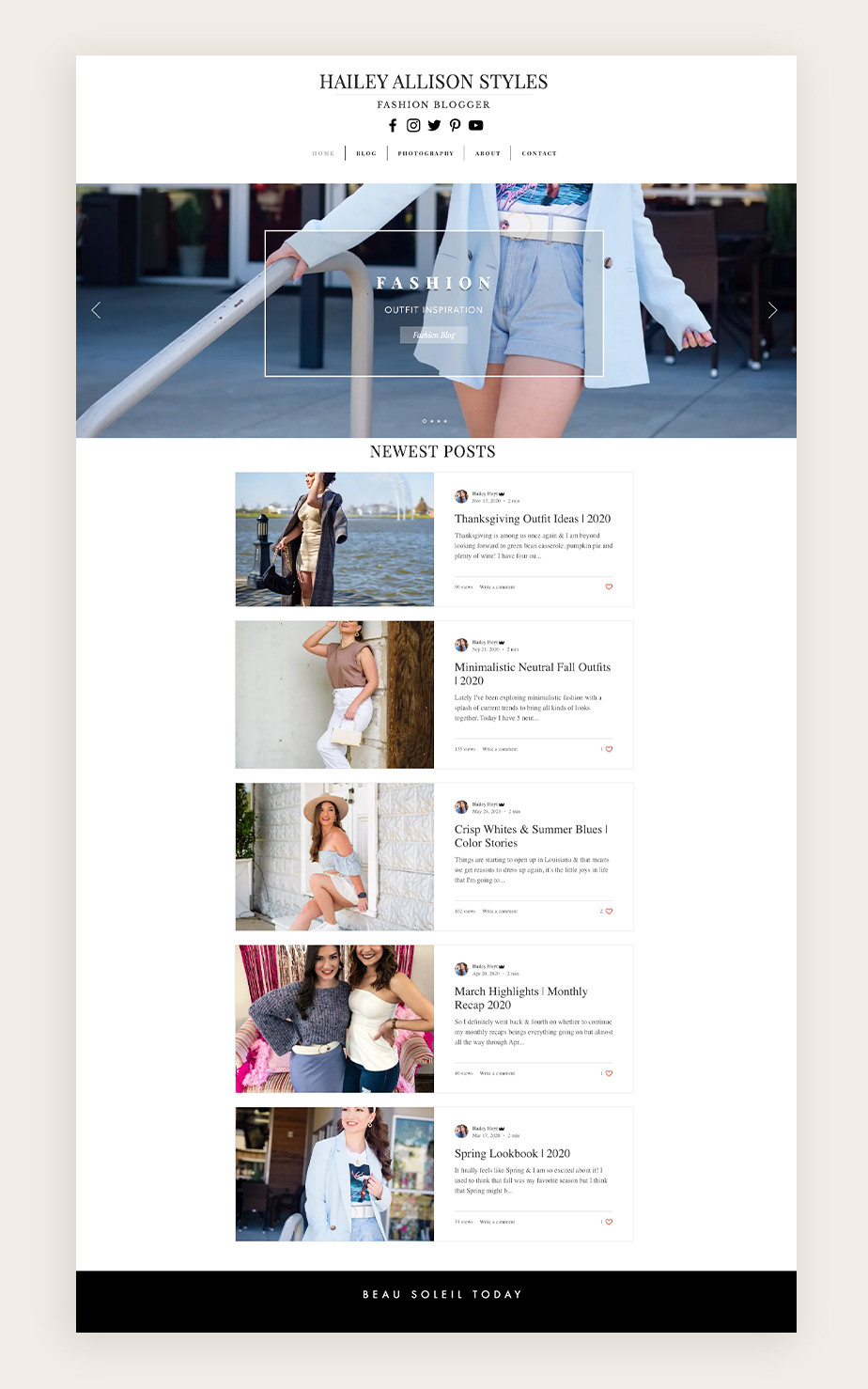 fashion blog example by Haily Allison Styles