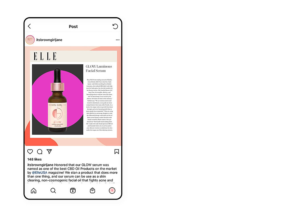 Brown Girl Jane in the news used for instagram marketing