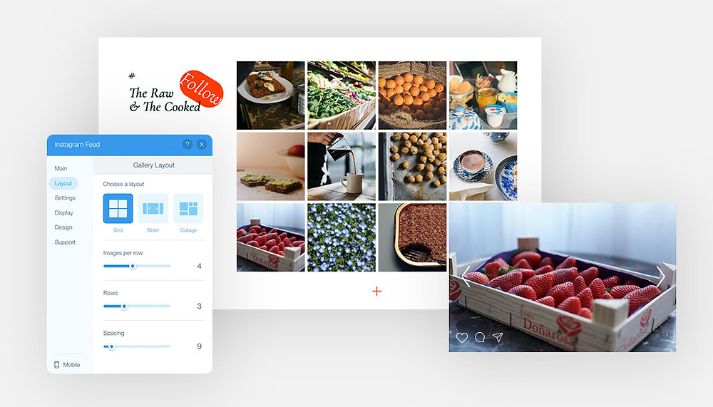 Add Instagram feed to your website