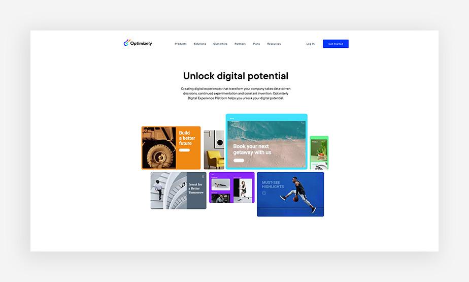 Optimizely's digital marketing tools
