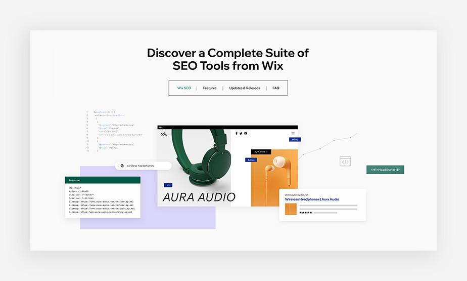 Wix SEO marketing tools