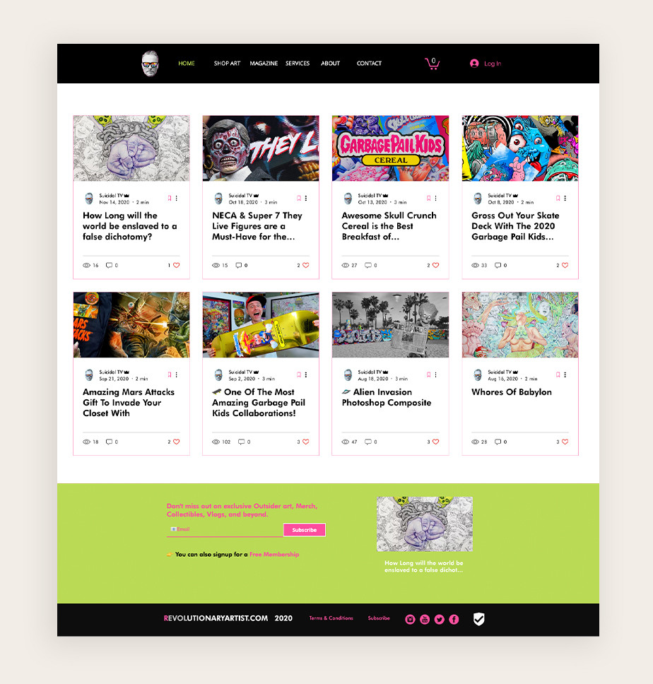 art and design blog Revolutionary Artist user example