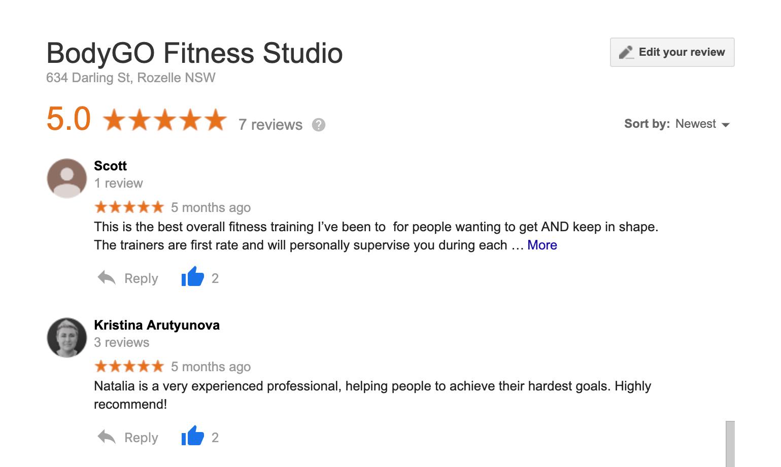 Google reviews: Scott & Kristina