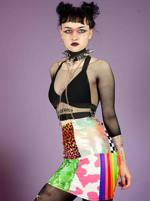 EMS THE LABEL PATCHWORK SKIRT