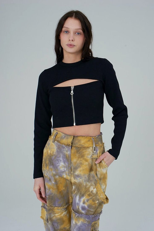 THE RAGGED PRIEST RIB TOP WITH ZIPPER