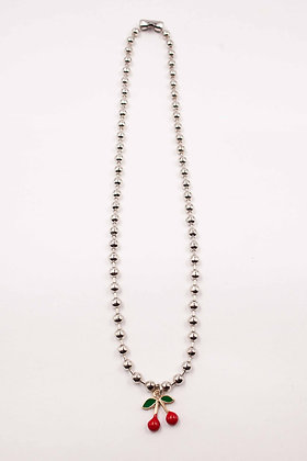 CHERRY BALL NECKLACE