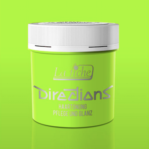 DIRECTIONS HAIRCOLOR FLUORESCENT GREEN