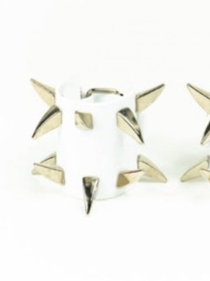 LUI TRASH ONE SPIKED CUFF WHITE