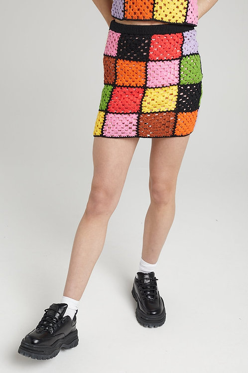 THE RAGGED PRIEST GATHERING PATCHWORK SKIRT
