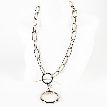 LUI TRASH O-RING CHAIN NECKLACE (DOUBLE RINGS; BIG CHAIN)