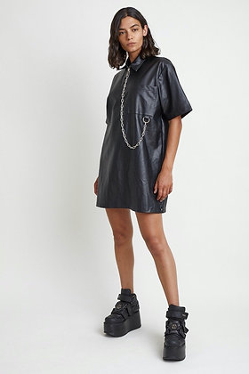 THE RAGGED PRIEST FAUX LEATHER DRES