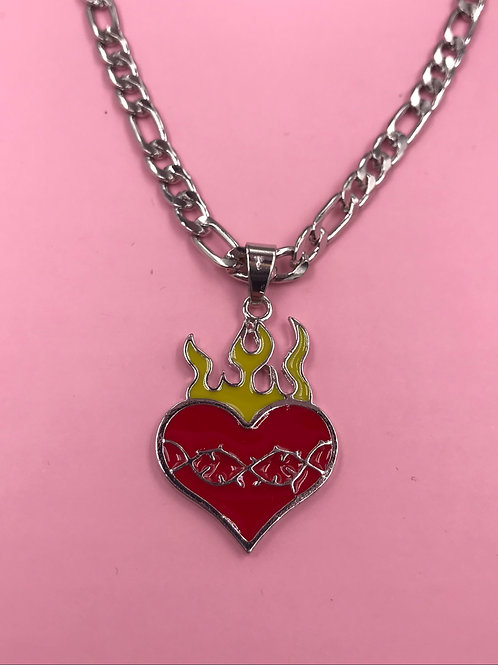 EXIT FIRE HEART NECKLACE