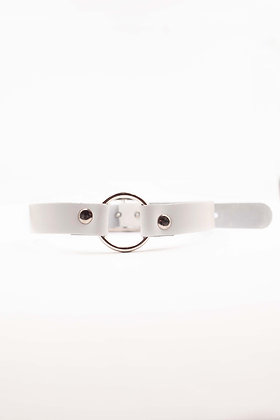 COEXIST WHITE CHOKER WITH RING