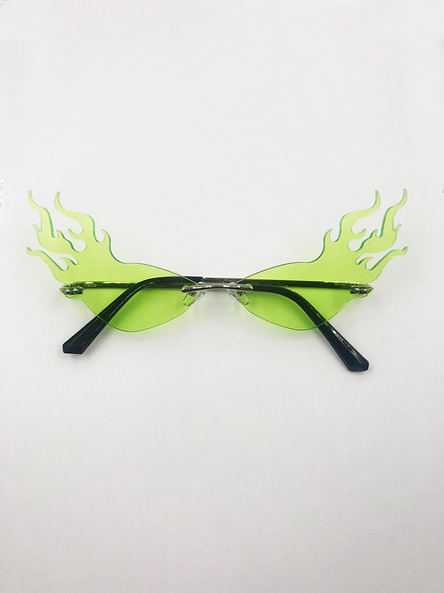 EXIT GREEN HIGHER FLAME GLASSES