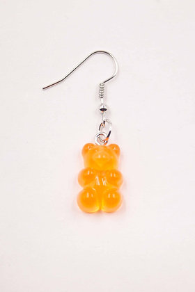 ORANGE TRANSPARENT EARRING
