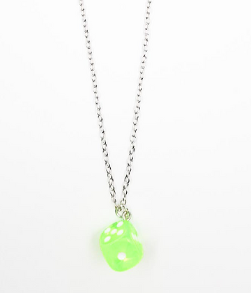 GREEN DICE NECKLACE