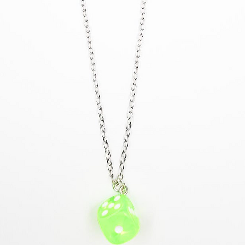 EXIT GREEN DICE NECKLACE