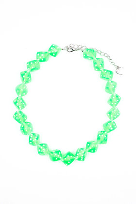 GREEN DICE CHOKER