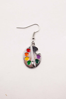 PAINTING PALETTE EARRING