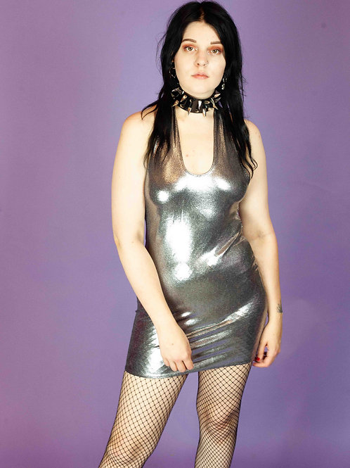 EMS THE LABEL SILVER DRESS