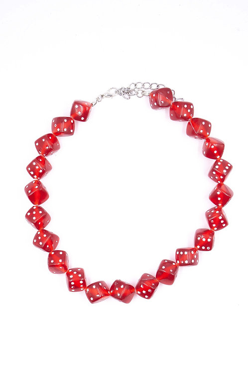 EXIT RED DICE CHOKER