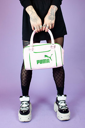 VINTAGE Y2K BABY PINK PUMA SHOULDER BAG