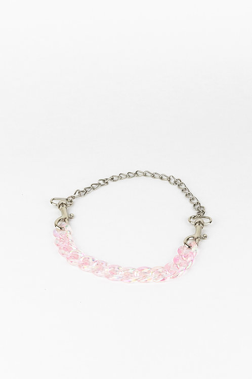 LUI TRASH PLASTIC CHAIN NECKLACE WITH KARABINER