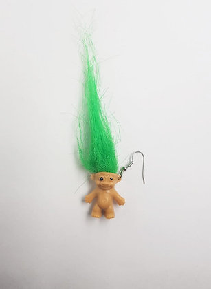 GREEN TROLL EARRING