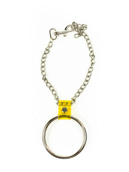 LUI TRASH BIG O-RING CHAIN + YELLOW PVC NECKLACE