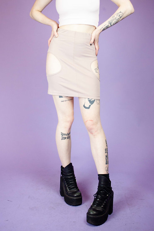 THERAPY UPCYCLED NUDE SKIRT