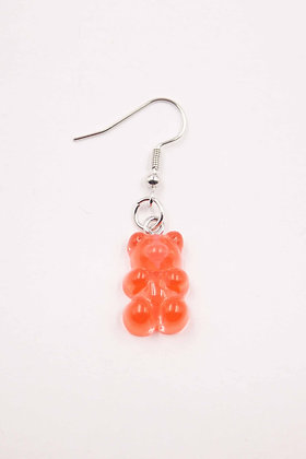 RED TRANSPARENT EARRING