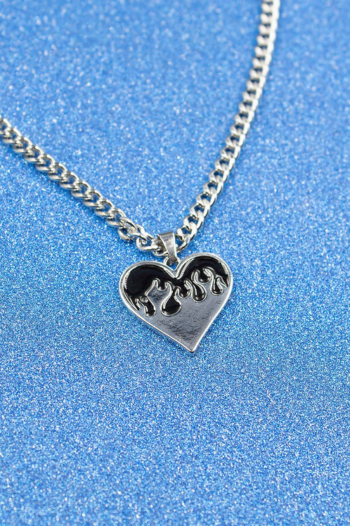 EXIT HEART FLAME NECKLACE