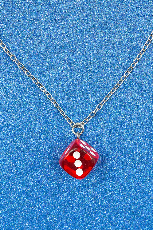 EXIT RED DICE NECKLACE